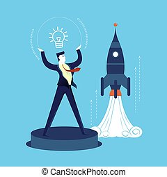 New business start up development man concept