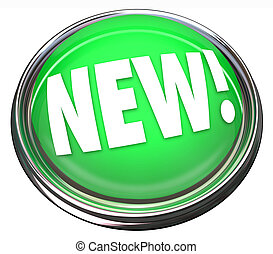 New button or flashing light to illustrate the newest product or special upgrade or update symbolizing change and innovation