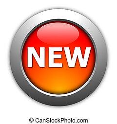 new button - new internet button illustration on white ...