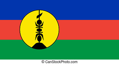 New Caledonia flag - very big size New Caledonia colony ...