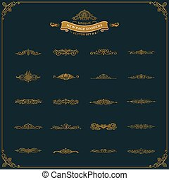 New Calligraphic Page Dividers and Elements of vintage ornaments set