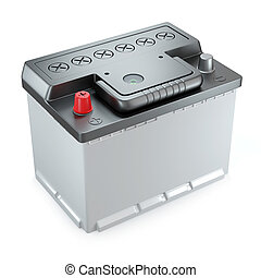 New car 12v battery 3d
