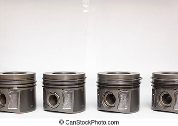new car piston isolated on white background