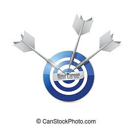 new career blue target illustration design