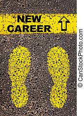 New Career message. Conceptual image