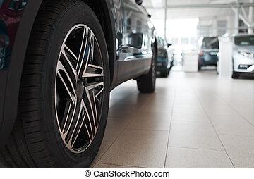 New cars at the dealership