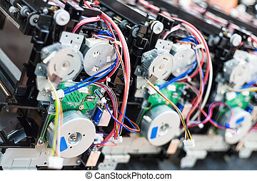 new cartridges during assembling of new printers