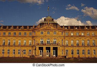 New Castle main portal in Stuttgart