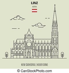 New Cathedral in Linz, Austria. Landmark icon