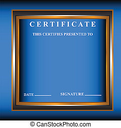 New certificate