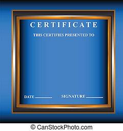 New certificate