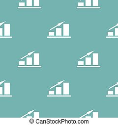 New chart pattern seamless blue