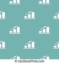 New chart pattern seamless blue