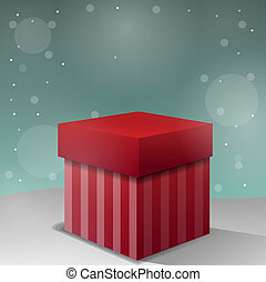 New Christmas gift background vector