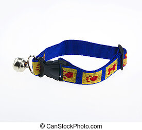 New collar belt isolated on white background.