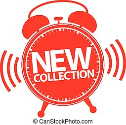 New collection alarm clock icon, vector illustration