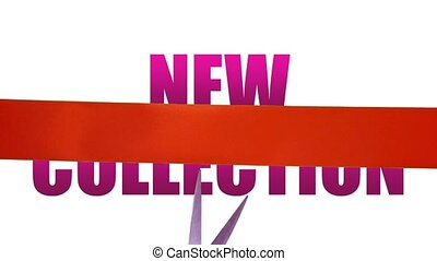 New Collection fashion concept with cutting ribbon
