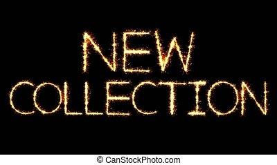 New Collection Text Sparkler Glitter Sparks Firework Loop...