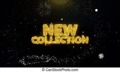 New Collection Written Gold Particles Exploding Fireworks...