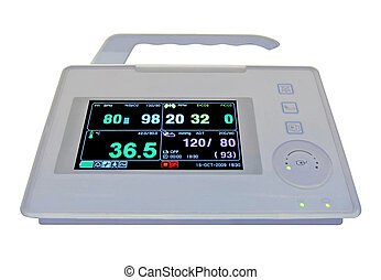 new colorful cardiovascular portable monitor, doppler display, i