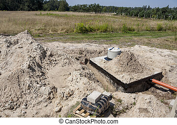 New concrete septic tank