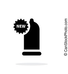 New Condom icon on white background. Vector illustration.