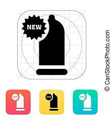 New Condom icon. Vector illustration.