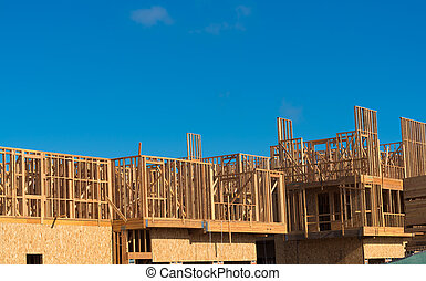 New Condominium or apartment construction - Wooden framing...
