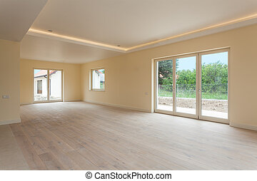 New construction, empty room - New construction and empty...