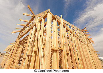 New Construction Home Framing Abstract