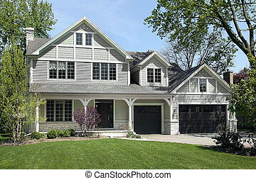 New construction home in spring - New construction home in...