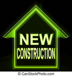 New Construction Home Shows Recent Building Or Development...