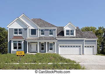 New construction home with