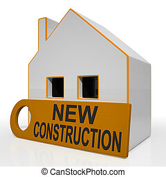 New Construction House Means Brand New Home Or Building