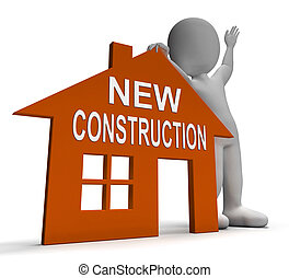 New Construction House Shows Newly Built Property