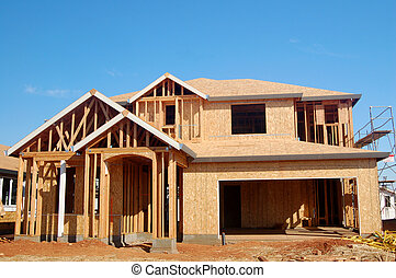 New Construction - houses under construction