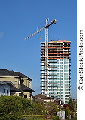 New construction in the city