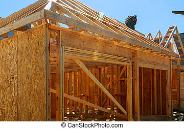 New construction of a house Framed New Construction