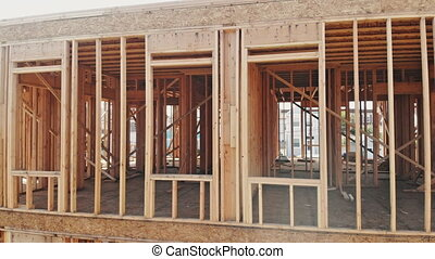 New construction of a house Framed New Construction of a...