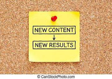 New Content New Results Sticky Note
