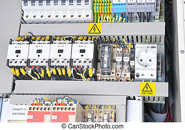 panel with electrical equipment - New control panel with...