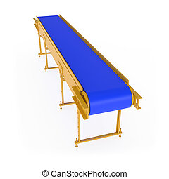 New Conveyor isolated on white - 3d illustration