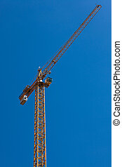 crane on a sunny day