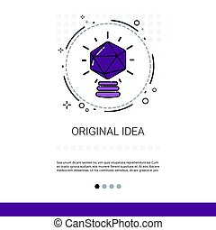 New Creative Original Idea Innovation Banner With Copy Space