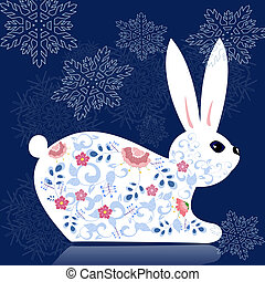New decorative flower bunny