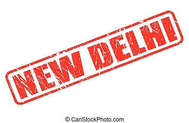 New delhi red stamp text