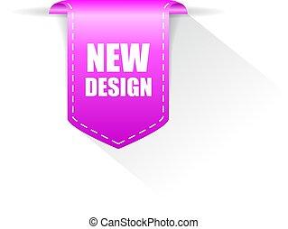 New design vector ribbon on white background