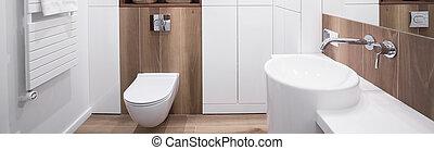 New design white bathroom