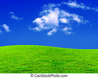 new desktop wallpaper - beautiful meadow and blue sky