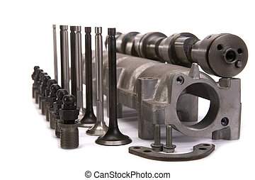 Cam-shaft of the engine in gathering